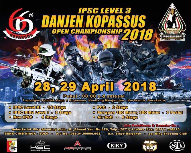 Danjen Kopassus Open Championship 2018