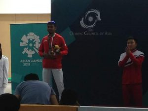 Muhammad Sejahtera Dwi Putra juara 2 menembak Asian Games 2018