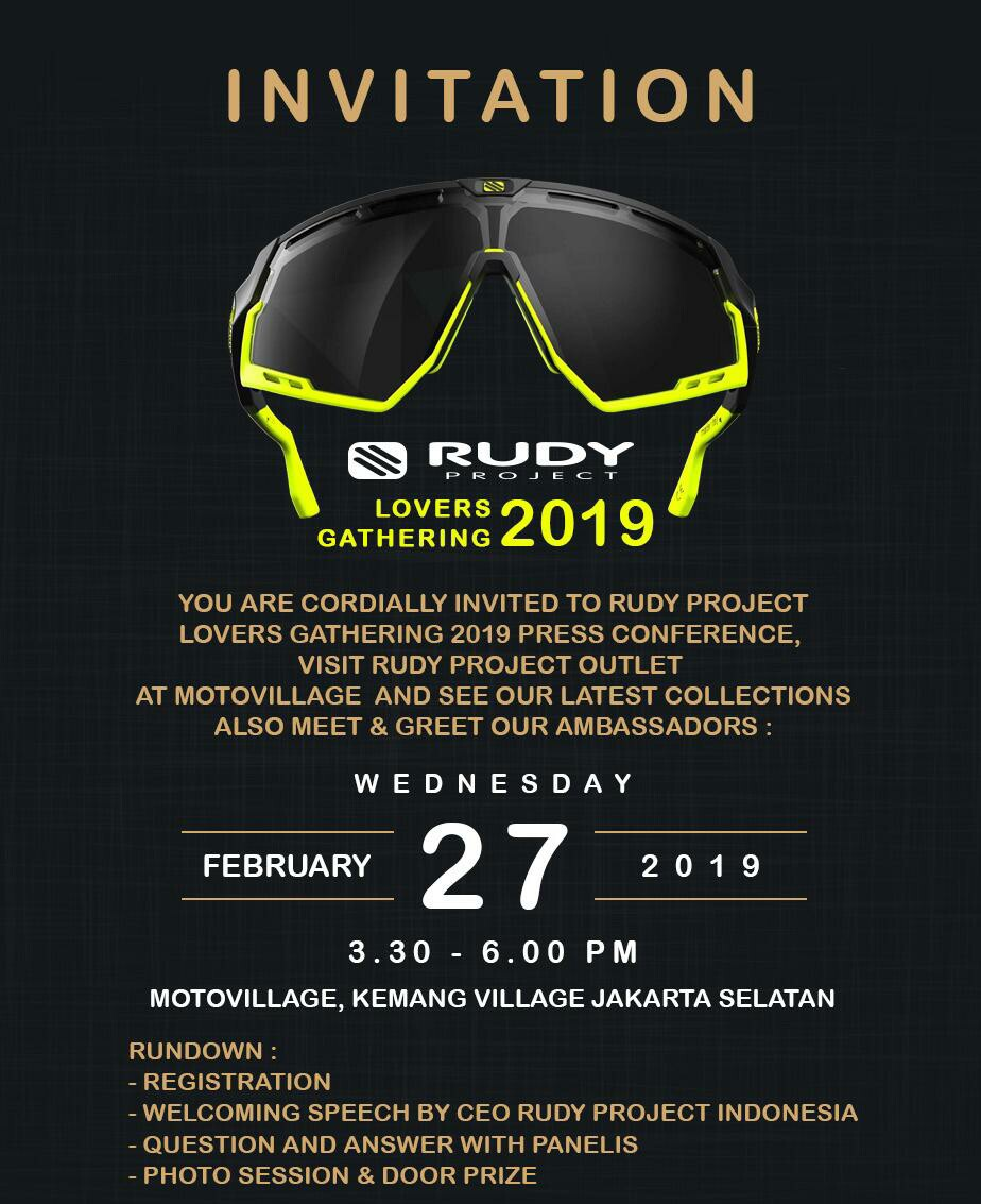 Rudy Project Invitation