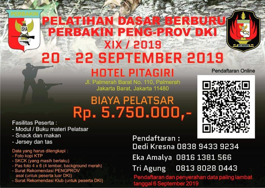 Pelatsar Berburu Perbakin DKI XIX / 2019