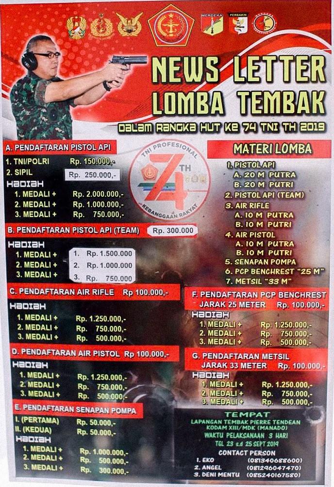 Turnamen HUT TNI Manado 2019