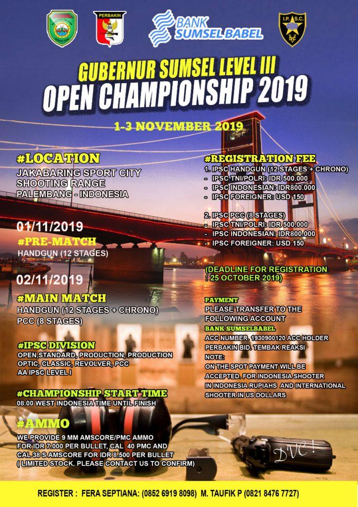 Gubernur Sumsel Open Champioship Level III_2019