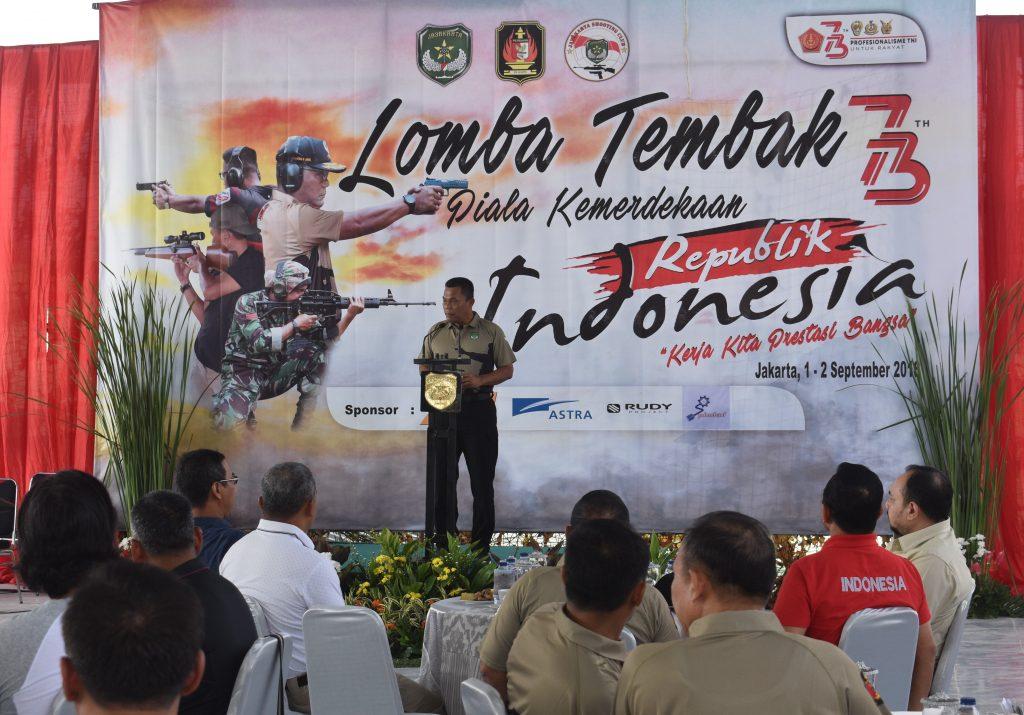 Pangdam Jaya membuka Kejuaraan menembak Piala Kemerdekaan 2018