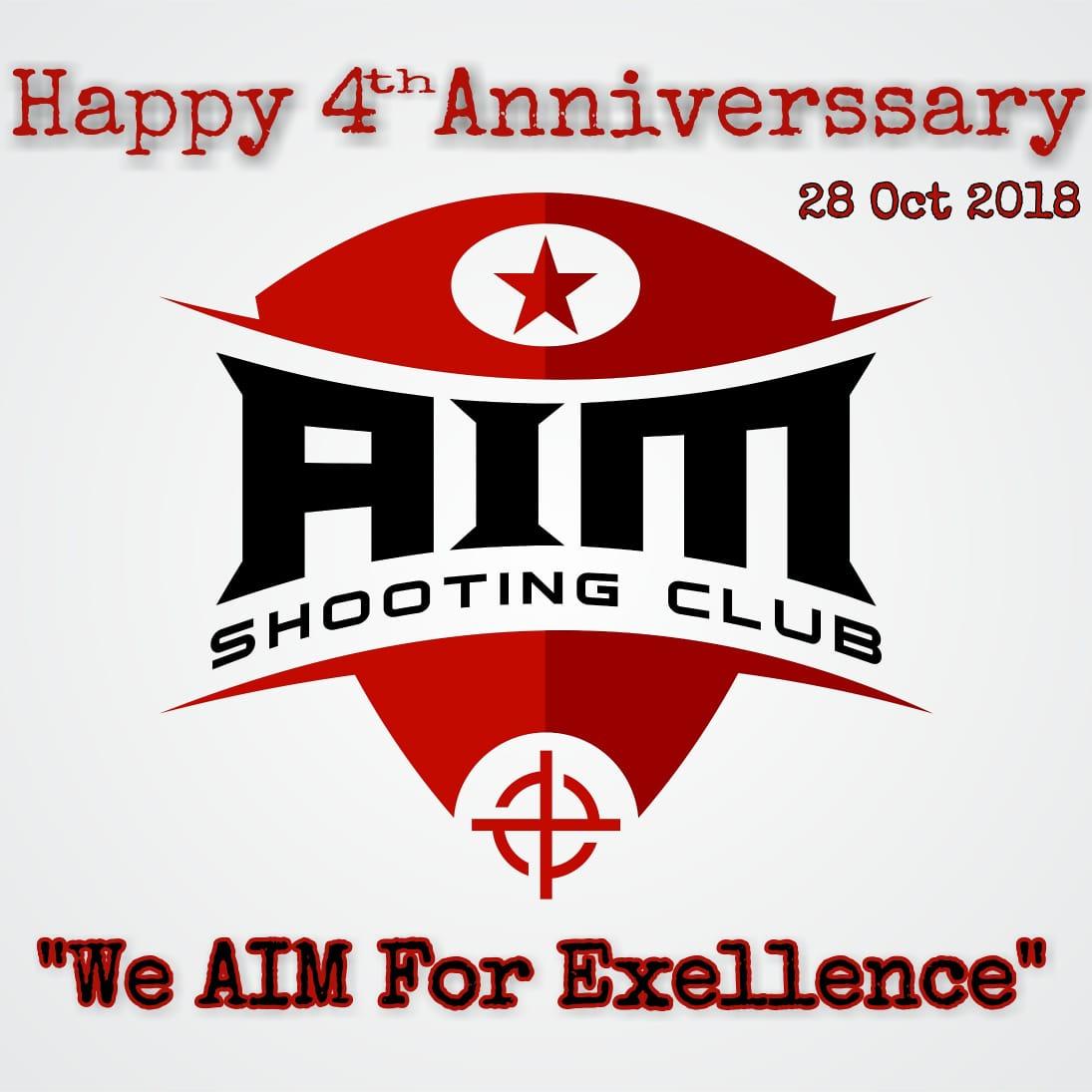 Logo Ulang Tahun AIM yang ke-4