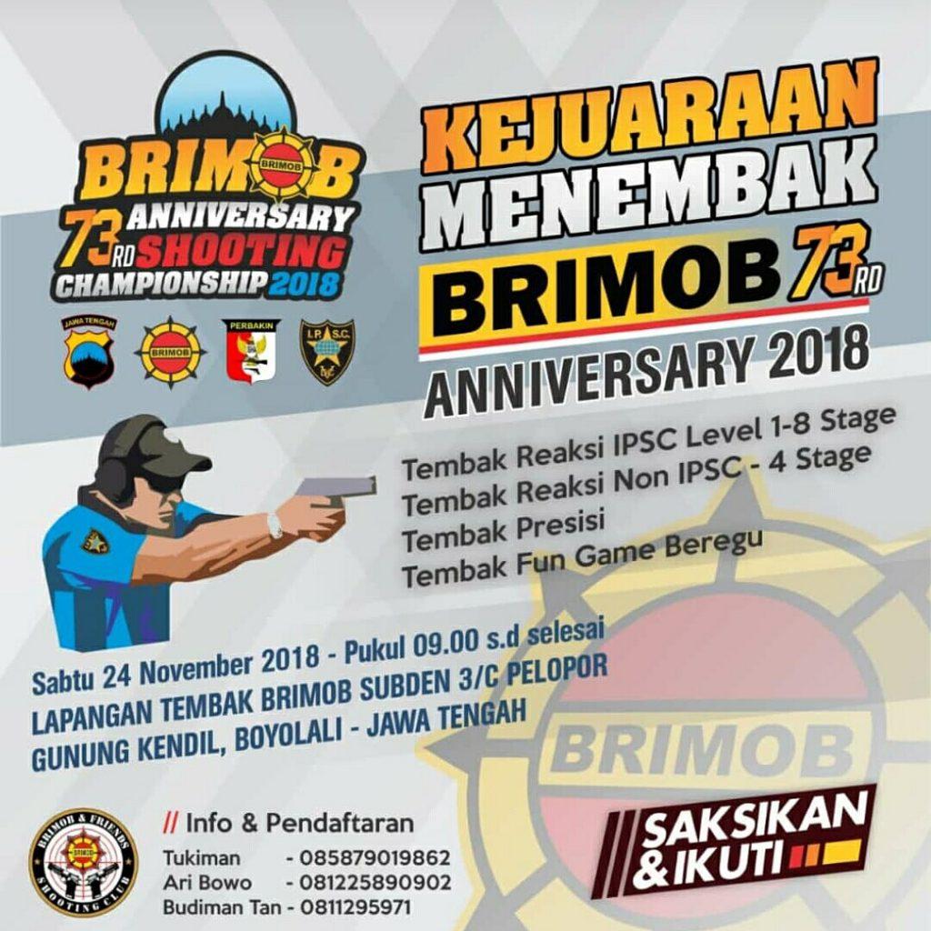 Kejuaraan Menembak Brimob 2018 di Boyolali